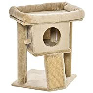 PawHut Cat tree Tower Climbing Activity Center Kitten Furniture with Jute Scratching Pad Ball Toy Co...