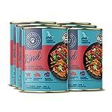 Nassfutter für Hunde | Rind mit Brokkoli, Papaya, Amaranth und Basilikum | 2,4 kg - 6er-Pack
