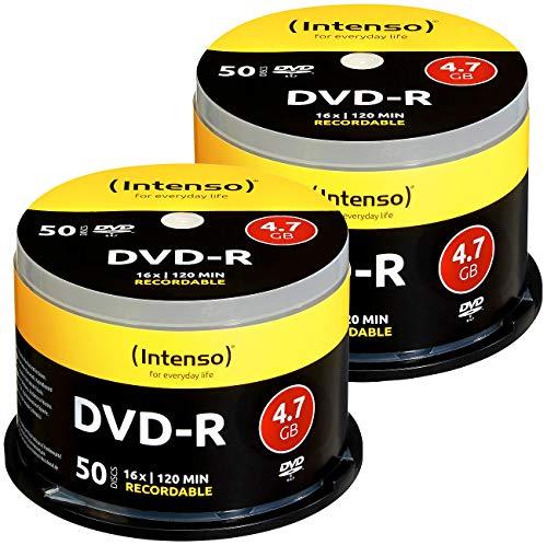 Intenso 2er-Set DVD(-) R 4.7GB 16x mit je 50 Rohlingen