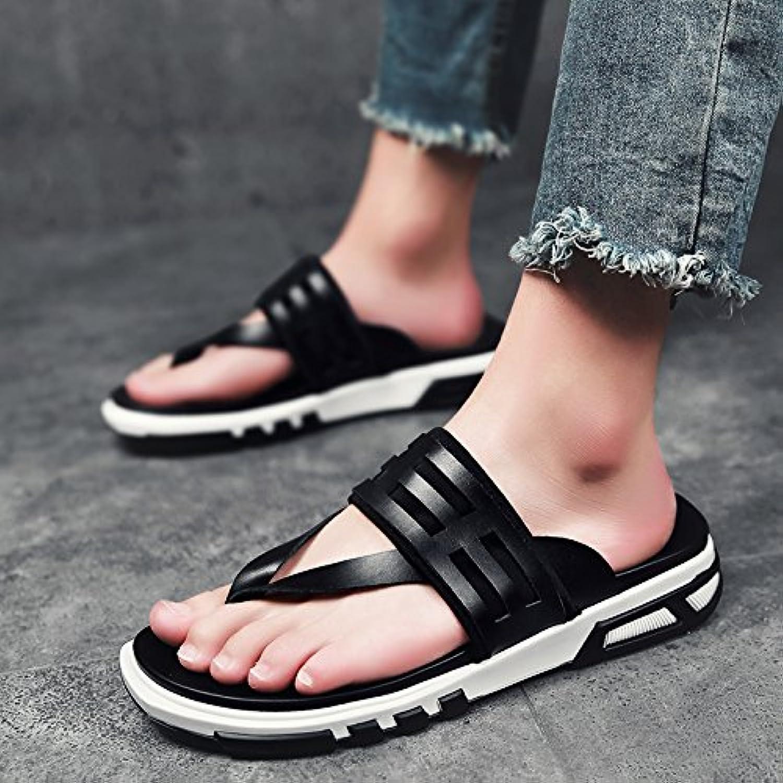 AIHUWAI Sandals Men Sandals Summer Casual Slippers Flip Flops Wear Non-Slip Sandals Men