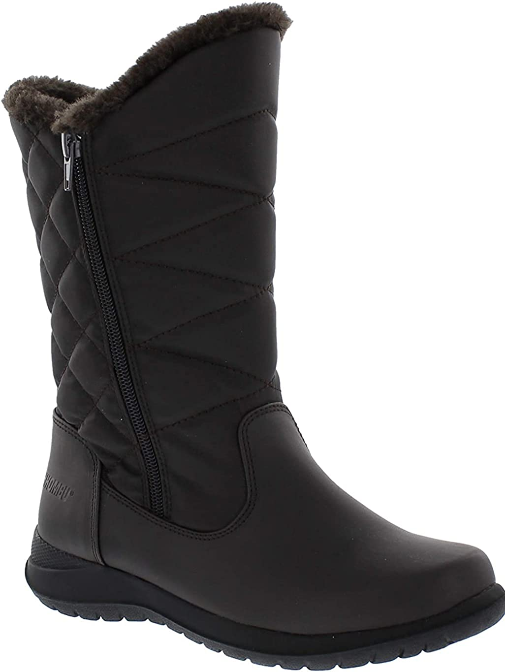 Khombu Women's Cold Weather Carly with Dual Zipper Closures Winter Boots