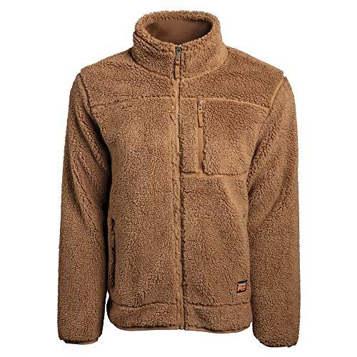 Timberland PRO Men's A1V47 Frostwall Wind-Resistant Full-Zip Jacket - Large - Dark Wheat