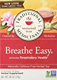 TRADITIONAL MEDICINALS Breathe Easy, 16 Tea Bags (Pack of 2)