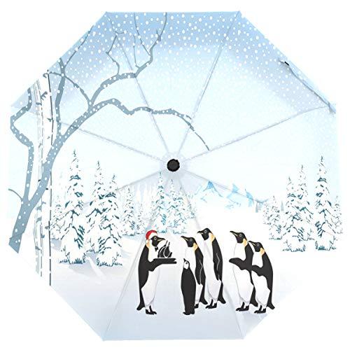 ISAOA Automatischer Reise-Regenschirm, kompakt, faltbar, Wolken, lustiger Dinosaurier, winddicht, ultraleicht, UV-Schutz, Regenschirm für Damen und Herren Mehrfarbig 7 Größe S