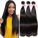 ClAROLAIR Unprocessed Brazilian Hair Bundles Brazilian Straight Hair 3 Bundles 9A Straight Human