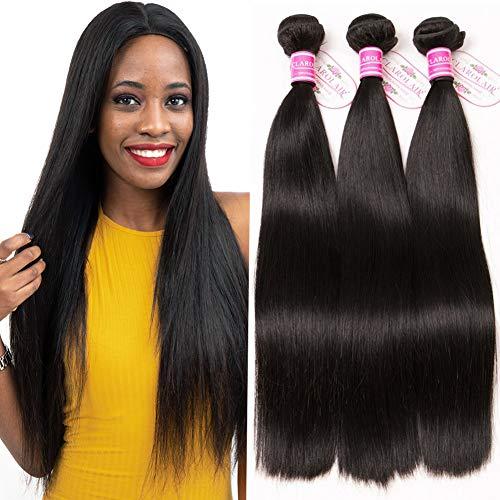 CLAROLAIR 8A Brazilian Hair Weave Straight Human Hair Bundles Straight Brasilianische Haare Bündel Echthaar Weave Menschliche Haare 300 g Total 10 12 14 inch