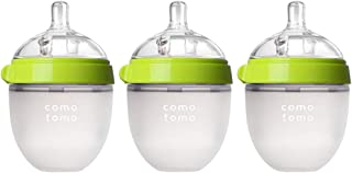 Comotomo Natural Feel Baby Bottle 3 Pack (Green, 5ozx3)