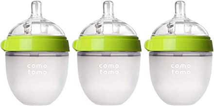 Comotomo Natural Feel Baby Bottle 3 Pack (Green, 5ozx3)