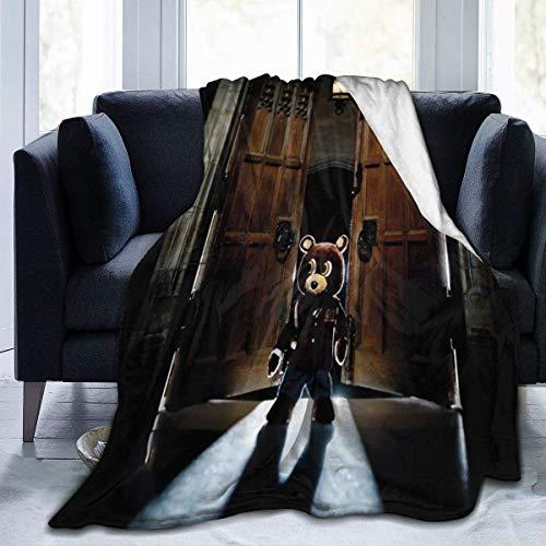 ChenShengDao123 Kanye West Late Registration Clean Home Microplush Manta de Lana-Ultra-Soft Velvet-Luxurious Fuzzy Fleece Fur-Cozy Lightweight-All Season Premium Bed Blanket 50''x40''