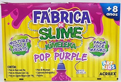 Kit Para Fazer Slime Da Acrilex Kimeleca Pop Purple