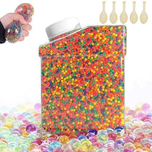 AMAYGA 60000 PCS Bolas de Gel de Agua,Perlas de Gel para decoración del Florero,Plantas,Flores,Mezclados cristalino Hidrogel Bolas de Gel para Decoración