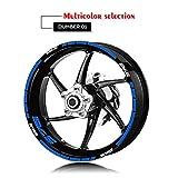 Rueda de la Motocicleta Llantas reflexiva Etiquetas de neumáticos Logo Adhesivos Moto Decorativo Set de Accesorios for Suzuki SV650S Mei Racing (Color : XT LQ SV650S BLU)