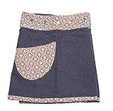 Sunsa Mädchen Rock Minirock Jeansrock Wende-Wickelrock Sommerrock kurz, Mini Jeans Mädchenrock Girls Skirt, 2 Kinder Röcke in einem, Verstellbarer Größe, Kid's Coole Sachen, Geschenk 15702