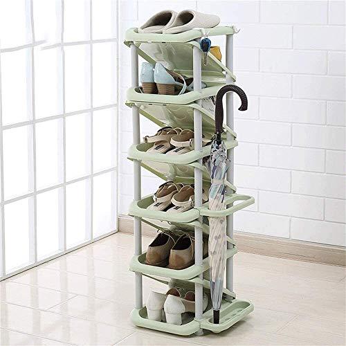 BRFDC Zapatero Gabinete de Zapatos de plástico Dormitorio Dormitorio Simple Espacio del hogar Capa de Gran Capacidad de Zapatos de plástico pequeño gabinete Multifuncional (Color : Light Green)
