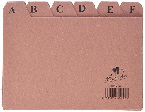 Mariola 3103 - Índice alfabético 24 posiciones cartón 150x100 mm