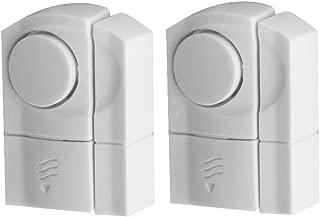 Evelots DIY Wireless Door & Window Security Alarms, Entrance Alerts, White- S/2
