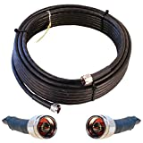OXYWAVE LMR 400 Low Loss Coaxial Cable with N-Male Connector for Outdoor/Indoor Usage
