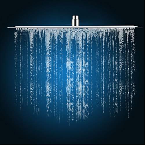 "Rainfall Shower Head, 20"" Square Rain Showerhead Ultra-Thin Stainless Steel Shower Sprayer for Home Bathroom Hotel"