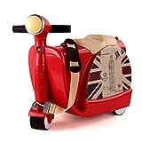 (ミヤレ)miyare 多機能 キッズ 通学 キャリーケース スーツケース キャリー バッグ 超軽量 旅行かばん アウトドア 遠足 旅行 乗用玩具 おしゃれ 収納バッグ (レッド)