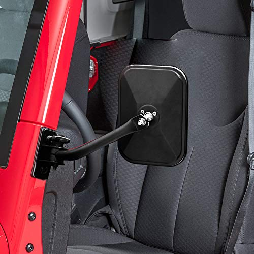 Seven Sparta Quick Release Mirrors for Jeep Wrangler TJ, JK, LJ, Door Off Mirrors for Jeep, 1 Pair of Doorless Mirrors, 2 Pack