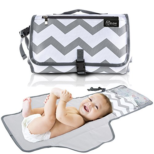 Easy to Wash for Baby Shower Registry Sturdy Material 41 inches x 23 inches Stylish Trendy Design Dipurse Portable Changing Pad Diaper Changing Station