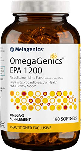 Metagenics OmegaGenics® EPA 1200 – Omega-3 Oil – Daily Supplement to Support Cardiovascular Health & Healthy Mood, 90 Count