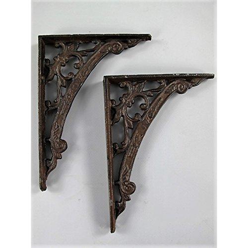 GR 2 Regalträger antik-braun aus Eisen Jugendstil Regalhalter Regal Winkel Regalstützen