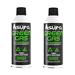 2 Cans of Green Gas Asura Silicon Oil Lubricant Added Gas contained and canisters are applied to US transportation regulations and are Certified by U.S. Departemnt of Transportation MADE IN USA