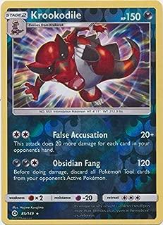 Krookodile - 85/149 - Holo Rare - Reverse Holo - Pokemon Sun & Moon