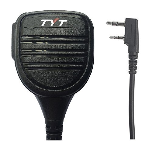 TYT Remote Speaker Mic Micrófono Altavoz for MD-380 Md-uv380 MD-390 TH-UV8000D UV8000E Two Way Radio, for WouXun KG-D901 PUXING PX-888K BAOFENG UV-5R BF-888S Retevis H777 Kenwood walkie Talkie