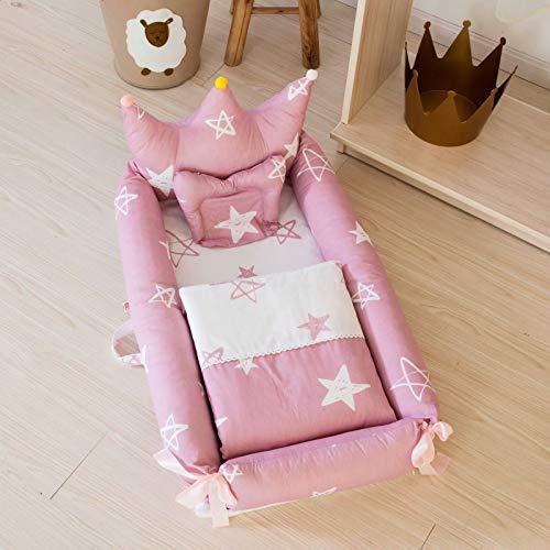 JHion Babynest Lit de voyage portable pour bébé 0-24 mois