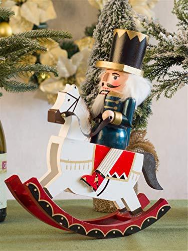 De enige goede kwaliteit Europese notenkraker schommelende paard soldaat marionet ornamenten huisdecoratie ambachten woonkamer wijnkast TV kast meubels Zeer mooi
