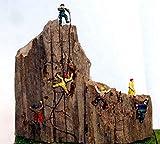 Langley Models 6 Bergsteiger N skalieren Metallmodell Menschen Figuren bemalte A104p