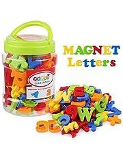 Sricam Letras y números magnéticos, 78 unidades, imanes del alfabeto número, juguetes educativos, nevera, pegatinas, set regalo para niños