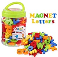 Magneti alfabetici di sicurezza: lettere e numeri sono realizzati con magneti ABS atossici e resistenti che sono sicuri per i bambini e garantiscono sicurezza e un lungo tempo di gioco. Quantità: totale 78 pezzi, contiene 1 set di lettere minuscole, ...