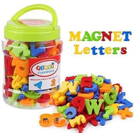 MAGNETICA con lettere minuscole e numeri Frigo Calamita Bambini LEARNING Giocattolo