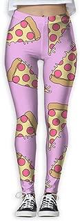 XMKWI Pizza Pattern 2 Women's Power Flex Stretch Yoga Pants Workout Tights Leggings Trouser