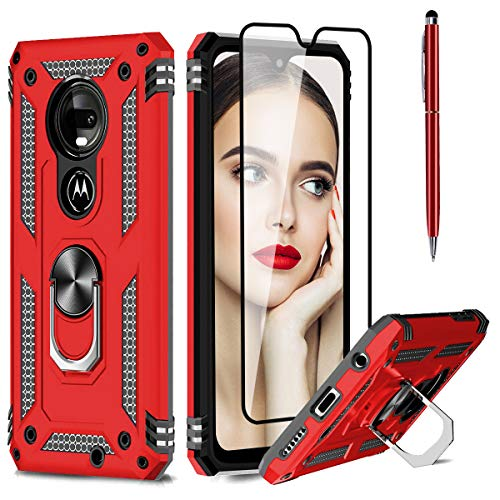 HAMIST for Moto G7 Case with Ring Holder Kickstand Full Body Cover Now $5