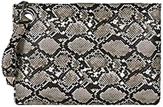 iBag's Snake Print Wristlet Clutch Women Daily Makeup Bags Purse Soft PU Leather Money Phone Pouch Casual Wallet 2019