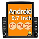 ZHNN 9.7 Inch 2 Din Android Car Stereo Radio HD Touchscreen 9.7' Car Multimedia Player Head Unit Double Din with GPS Navigation Receiver,Bluetooth,FM,Wifi,Support rear camera&mirror link,Dual USB,16GB