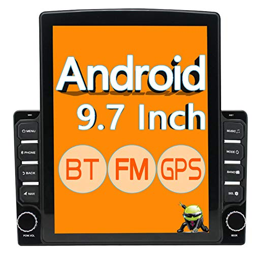 "ZHNN 9.7 Inch Double Din Android Car Stereo Radio Touchscreen 2021 New 9.7"" Head Unit with GPS Navigation Receiver,Bluetooth,FM,WiFi,Support Backup Camera&Mirror Link,Dual USB 9.7 inch 16G"