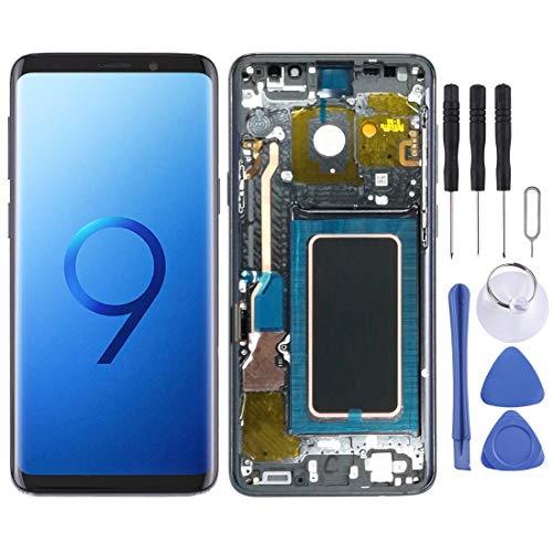 Compatibele Vervangings LCD-scherm en Digitizer Volledige Vergadering met Frame for Galaxy S9 + Accessory (Color : Grey)