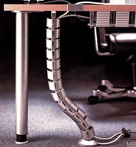 MB FERRAMENTA cables en espiral de la gestión de cables cable de salida de cable de manguera de aire a través de su mesa de escritorio