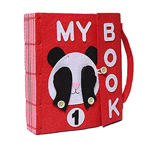 Per Libros de Bricolaje Blandos de Material Montessori Tableros de Aprendizaje de Vestir y Conocer Objetos Libros de Bricolaje par aBebés de 1-3 Años