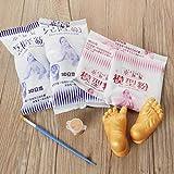 PZNSPY Nuevo polvo de moldeo en polvo para clones de manos y pies para bebés y niños 3D Kit de bastidor de yeso de huella de huella manual