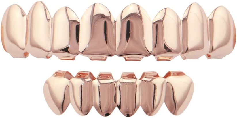 A touch of taste Gold 8 Top and Shiny Regular dealer Grills Ho Bottom Hip Inexpensive Set 6