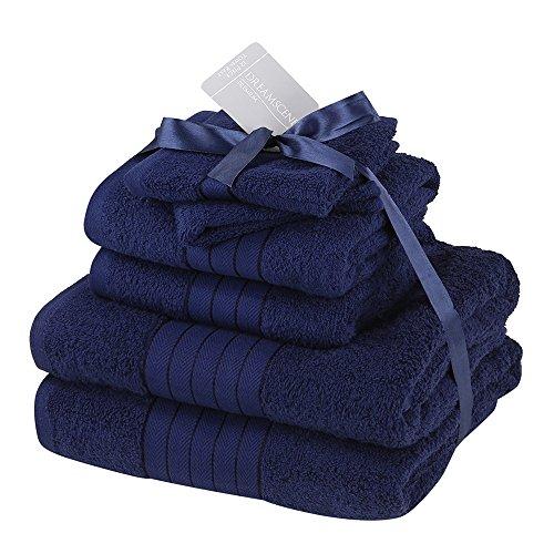 Dreamscene - Juego de Toallas supersuaves, 6 Unidades, Azul, 6 Piece Towel Bale Set