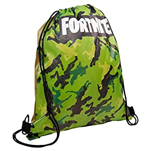 Fortnite Mochila con Cordón | Bolsas con Cordón para La Escuela, Kit De Educación Física, Natación, Deporte | Bolsa De…