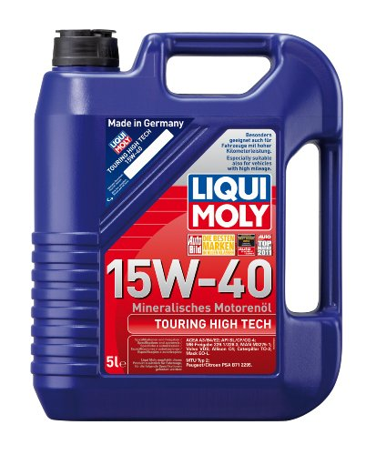 LIQUI MOLY 1096 Touring High Tech Motoröl 15W-40, 5 L