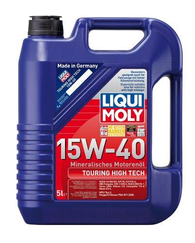 Liqui P000208 Moly Touring 1096 Touring High Tech Motoröl 15W-40, 5 L